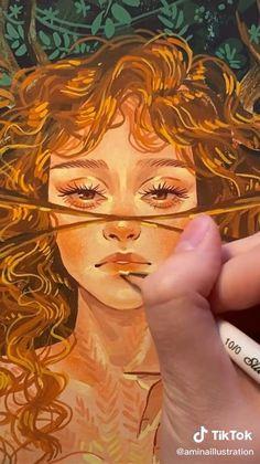 Gouache Painting, Painting & Drawing, Creation Art, Guache, Wow Art, Art Drawings Sketches, Art Plastique, Art Sketchbook, Aesthetic Art