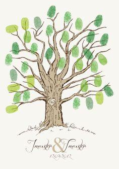 Hochzeitsgästebuch - Wedding Tree / Hochzeitsbaum - ein Designerstück von NutzGedoens bei DaWanda