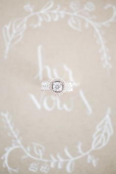 Round diamond with a round halo: http://www.stylemepretty.com/california-weddings/santa-barbara/2015/06/12/elegantly-cool-santa-barbara-wedding/ | Photography: B. Schwartz - http://www.bschwartzphotography.com/