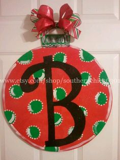 Ornament Wooden Door Hanger on Etsy, $40.00