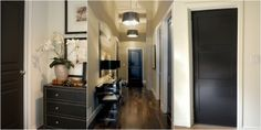 Black Interior Doors Before And After | The dark color makes them look so much more expensive, right?