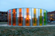 olafur eliasson panoramic awareness pavilion, 2013 proposed gift of john and mary pappajohn to the des moines art center photo courtesy rich sanders Studio Olafur Eliasson, Icelandic Artists, Circle Light, Mall Design, Environmental Design, Fence Design, Photography Editing, Outdoor Art, Land Art