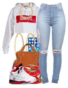 """august 1 2k14"" by xo-beauty ❤ liked on Polyvore featuring Dimepiece, Roberta Chiarella, Luana, HUF, MOOD and Retrò"