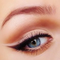 Winged eyeliner with an accent of white.  Great option for elongating the eye shape.
