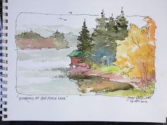 Don Getz Watercolor Journal (Tour of the USA) Watercolor Sketchbook, Pen And Watercolor, Watercolor Landscape, Art Sketchbook, Watercolor Paintings, Watercolors, Fashion Sketchbook, Watercolor Ideas, Watercolor Artists