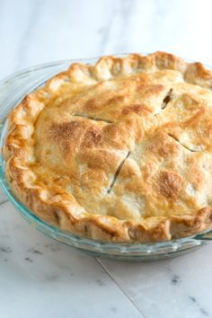 Flaky Pie Crust:  2 1/2 cups (360 grams) all-purpose flour 1 teaspoon kosher salt 1 tablespoon sugar, optional 1 cup (227 grams) very cold unsalted butter, cut into 1/2-inch cubes (2 sticks) 6 to 8 tablespoons ice water