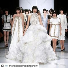 @thenationalweddingshow start next weekend in London...  We're seriously lusting over bridal looks at Paris Fashion Week! Image: @ralphandrusso #pfw #coutureweek #ralphandrusso #bride #bridalwear