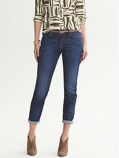Heritage Indigo Skinny Roll-Up Jean | Banana Republic