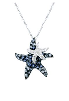 Effy Jewelry Effy Watercolors Blue Sapphire and Diamond Starfish Pendant, 1.29 TCW - was $2700.0, now $2160.0 (20% Off). Picked by cossi @ Effy Jewelry