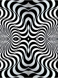 Op Art Came About In The Optical For Short Features Illusions That Trick Eye Is Usually Done Black And White Making It