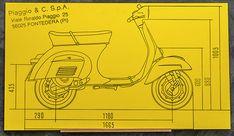 Vespa ET3 Groovecut Wandbild Gelb