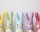 Softie! Felt Animal Plush Stuffed Bunny Rabbit