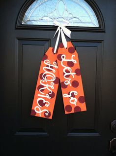 Virginia Tech Door Tags by TaggedWithLove1 on Etsy, $30.00