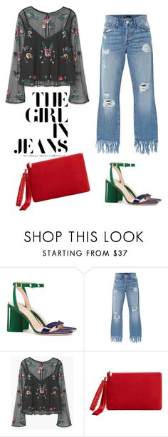 """""""#218"""" by ysmnfashion ❤ liked on Polyvore featuring Tory Burch, 3x1 and MANGO"""