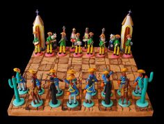 Xadrez- Artesanato de barro com figuras do Nordeste do Brasil
