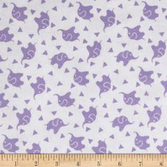 Dreamland Flannel Elephant Confetti White/Lavender Lily from…