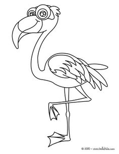 Flamingo Coloring Page Nice Bird Sheet More Original Content On Hellokids