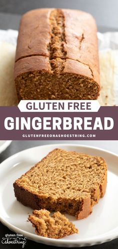 Looking for a simple way to enjoy the warm flavors of gingerbread without having to make cookies, cutout gingerbread men or a detailed gingerbread house? Why not just bake a delicious loaf of gluten free gingerbread? Patisserie Sans Gluten, Dessert Sans Gluten, Bon Dessert, Gluten Free Sweets, Gluten Free Cooking, Dairy Free Recipes, Baking Recipes, Gluten Dairy Free, Oreo Bars