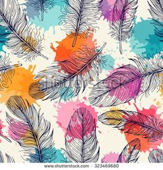 Find Seamless Pattern Feathers Freehand Drawing stock images in HD and millions of other royalty-free stock photos, illustrations and vectors in the Shutterstock collection. Thousands of new, high-quality pictures added every day. Textile Patterns, Print Patterns, Floral Pattern Wallpaper, Elephant Tapestry, Bright Paintings, Flower Backgrounds, Wall Wallpaper, Vector Pattern, Wall Murals