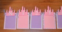Newborn to 12 Months Princess Castle Photo Banner - Princess Girl's Birthday Party - 1st Birthday