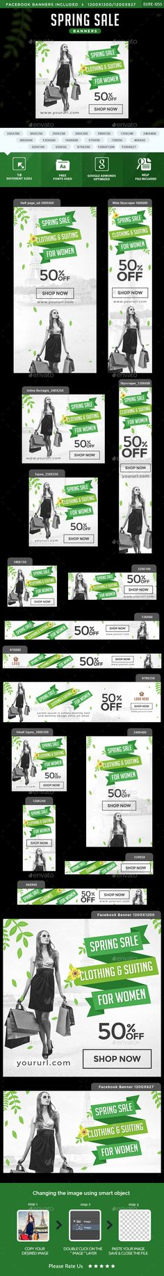 Buy Spring Sale Banners by Hyov on GraphicRiver. Promote your Products and services with this great looking Banner Set. Leaflet Design, Ad Design, Signage Design, Graphic Design, Education Banner, Education Posters, Page Layout Design, Rollup Banner, Summer Banner