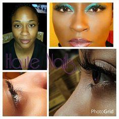 Novalash eyelash extensions by me. Follow me IG @haute_nails