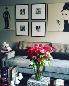 @mariagabriellal's fashion forward living room, styled with our Harrison Sofa.