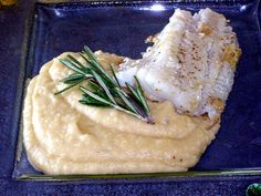 Wonderful tasty Potato and Onion Mash with fried Zander Fillet