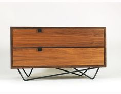 steel and wood chest of drawers