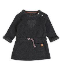 Stijlvol jurkje met comfortabele fit voor meisjes in dark grey melee uit de c...
