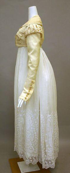 Ensemble (image 2) | British | 1820-1825 | silk, cotton | Metropolitan Museum of Art | Accession Number: 2010.149a, b
