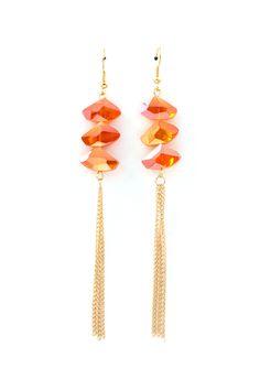 Apricot Vitrail Crystal Earrings