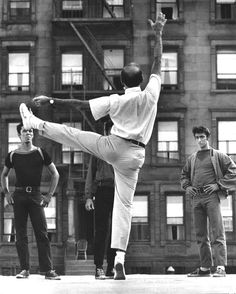 """lottereinigerforever: """" Jerome Robbins on the set of """"West Side Story"""" Jerome Robbins, October 11, 1918 – July 29, 1998. """""""