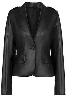LK Bennett Anja Cropped Nappa Leather Jacket