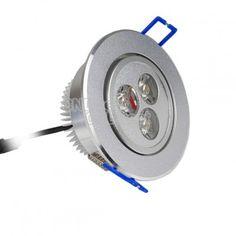 $2.29 3W LED Ceiling Light Down Recessed Lamp Warm White 85~265V
