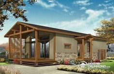 Simple vacation house plans for limited budget. Beautiful & affordable vacation home plans, small cabin plans and cottage plans! Cottage House Plans, Modern House Plans, Small House Plans, Cottage Homes, Small Barn Home, Rustic Home Design, Home Design Plans, Plan Design, Cheap House Plans