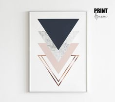 Triangles Stack in Navy and Blush – Print Avenue Designs Vibrant Colors, Colours, Geometric Poster, Minimalist Scandinavian, Extra Fabric, Subtle Textures, Modern Prints, All Print, Canvas Fabric