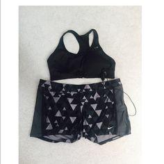 Nike dri-fit shorts Size x-large, hidden pocket inside, poly/spandex, lightly worn Nike Shorts