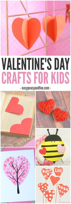 If you are looking for some love themed projects to do in the classroom or at home this Valentines Day Crafts for Kids list is packed with simple craft ideas for all generations. #ValentinesDay #Crafts #Kids