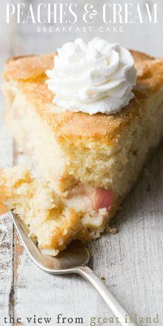 Peaches and Cream Breakfast Cake