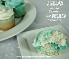 Jello swirl Cupcakes with Jello Buttercream, so many flavors, so many possibilities!