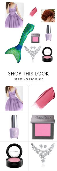 """Ariel's Summer Birthday Party"" by www-nyny ❤ liked on Polyvore featuring Hourglass Cosmetics, OPI, Urban Decay, MAC Cosmetics and Bling Jewelry"