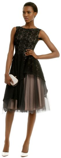 $35, Black Tulle Party Dress: Nha Khanh Tulle Dress by Sabrina. Sold by Rent The Runway. Click for more info: http://lookastic.com/women/shop_items/95878/redirect
