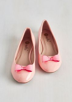 Zest of Luck Flat in Rose - Pink, Solid, Bows, Work, Casual, Pastel, Darling, Good, Flat, Faux Leather