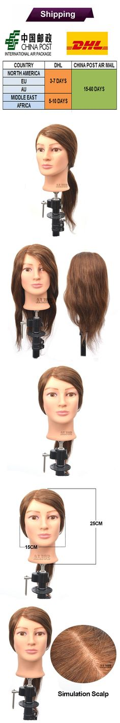 100 Human Hair Cosmetology Mannequin Head 18 Inches Hairdressing Training Heads Styling Head Female Mannequin Heads