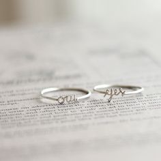 Initial name ring from namesring.com. Makes a great gift.