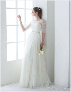[웨딩드레스] ① 새하얀 공간,순백의 드레스를 입은 신부의 로맨틱 타임,제이스포사