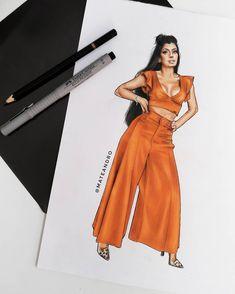 Loving the color and design Fashion Figure Drawing, Fashion Drawing Dresses, Fashion Illustration Dresses, Clothing Sketches, Dress Sketches, Fashion Design Drawings, Fashion Sketches, Croquis Fashion, Fashion Figures