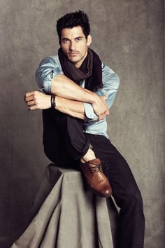 David Gandy. Like the whole outfit.