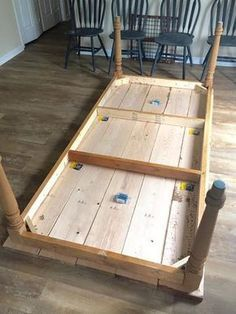 diy, table, project, make Diy Farmhouse Table, Farmhouse Style Decorating, Farmhouse Furniture, Rustic Table, Dining Room Furniture, Rustic Furniture, Diy Table, Diy Pallet Furniture, Handmade Furniture